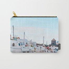 Santorini Greece Ligh Blue Sky Carry-All Pouch