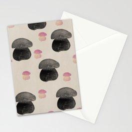 Black mushroom Stationery Cards