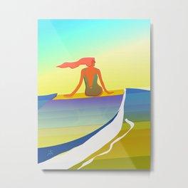 Surfing The Groovy Summer Metal Print