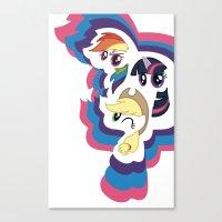mlp Canvas Prints featuring MLP by pixel.pwn | AK