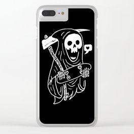 Grim Skater Clear iPhone Case