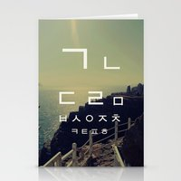korean Stationery Cards featuring korean alpha by Alison Kim