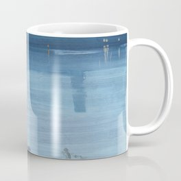 James Abbott McNeill Whistler - Nocturne: Blue and Silver - Chelsea Coffee Mug