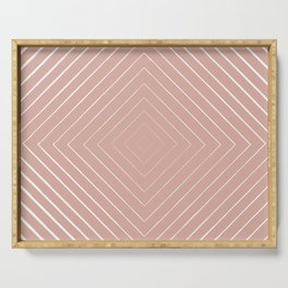 Pink Diamond Pattern Serving Tray