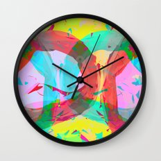 pastel color rings  Wall Clock