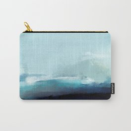 Ocean-Inspired Abstract Carry-All Pouch