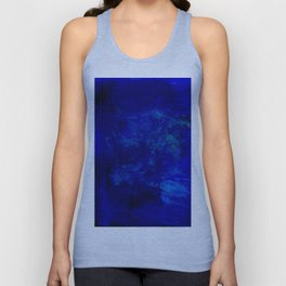 Blue Night- Abstract digital Art Unisex Tank Top