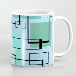 Mid Century Modern Rectangles Coffee Mug