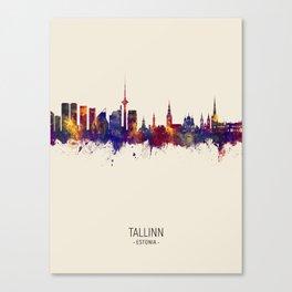 Tallinn Estonia Skyline Canvas Print