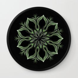 Alien Mandala Swirl Wall Clock