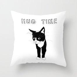 Hug Time Kitty Cat Throw Pillow
