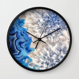 Blue sea ice agate 2990 Wall Clock