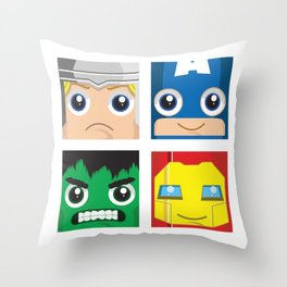 Earth Defenders Throw Pillow