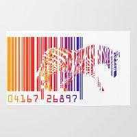 zebra Area & Throw Rugs featuring zebra  by mark ashkenazi