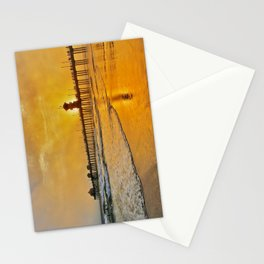 Foggy HB Sunset ~ 9/1/13 Stationery Cards