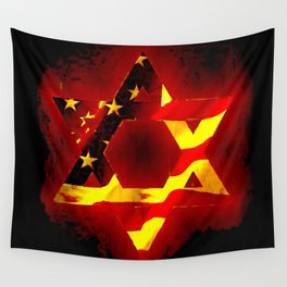 UNITED STATE OF ISREAL 011 Wall Tapestry