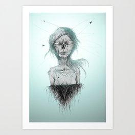 PENSÉE DES MORTS. Art Print