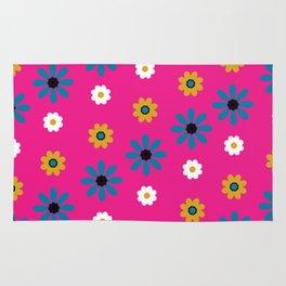 flowers in pink Rug