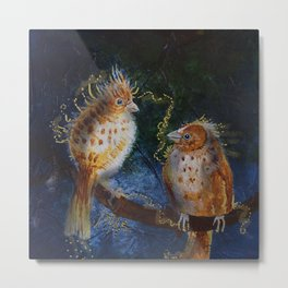 Night birds Metal Print