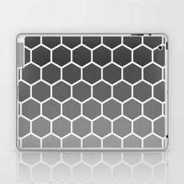 Black and gray gradient honey comb pattern Laptop & iPad Skin