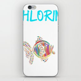 Funny Swimming Chlorine, It's what's for Breakfast Fish iPhone Skin