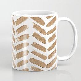 Gold Chevron Coffee Mug