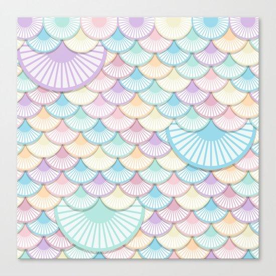 Pastel Wagon Wheels Canvas Print