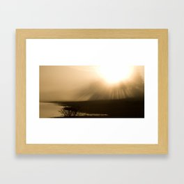 Palsko Lake sunburst Framed Art Print