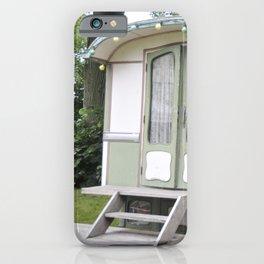 Green Gypsy Caravan at Parkkaffee, Belgium iPhone Case