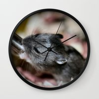 hamster Wall Clocks featuring Tiny Hamster by IowaShots