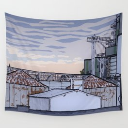 The Mill at Sunset Wall Tapestry