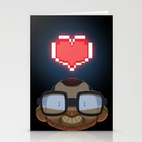 video games Stationery Cards featuring I love Video Games  by Shihab Aldeen