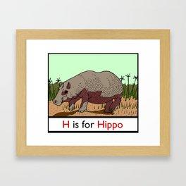 H is for Hippo Framed Art Print