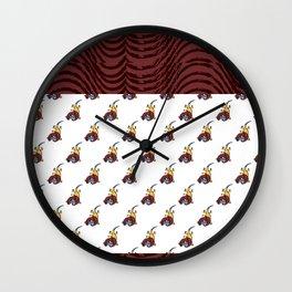 African Scorpio Pattern Wall Clock