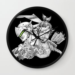 Genji & Hanzo Wall Clock