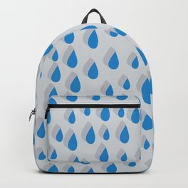 3D Water Drops Backpack
