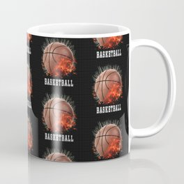 Basketball on Fire Coffee Mug