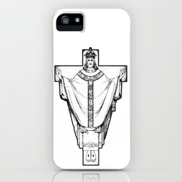 Rex Christe Redemptor - white bkg iPhone Case