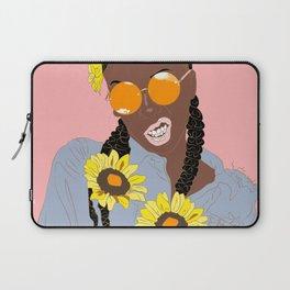 Believe in Yo Juice - Digital Black Goddess Vector Drawing Laptop Sleeve