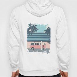 Surfer Graphic Beach Palm-Tree Camper-Van Art Hoody