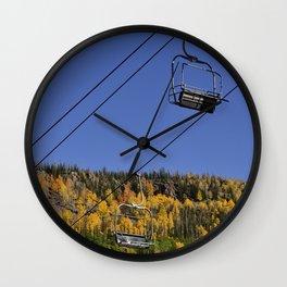 Autumn I - Brian_Head Ski_Resort, Utah Wall Clock
