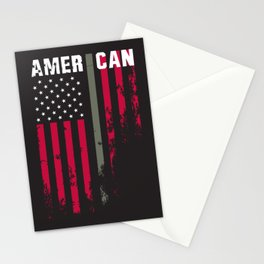 American Military Flag Stationery Cards