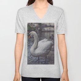 Swan Unisex V-Neck