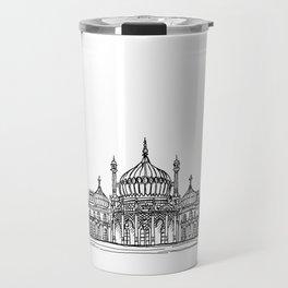 Brighton Royal Pavilion Facade Drawing Travel Mug