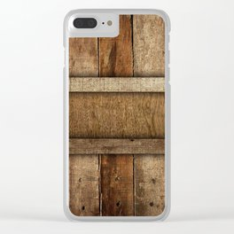 wooden box Clear iPhone Case