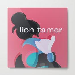Lion Tamer Geisha Metal Print