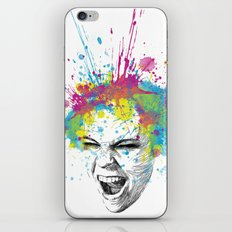 Crazy Colorful Scream iPhone Skin