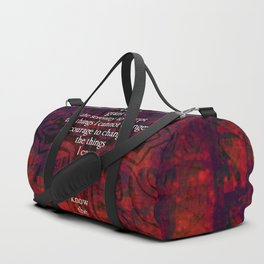 Serenity Prayer Inspirational Quote With Beautiful Christian Art Duffle Bag