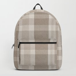 Checkered, Plaid Prints, Warm Brown Backpack