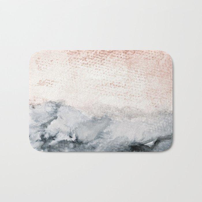pastel landscape Bath Mat